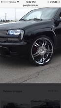 "24"" BZO 5 spoke chrome wheels Forestville Warringah Area Preview"