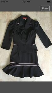 Black Strapless Dress and Matching Jacket