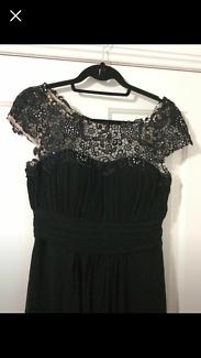 Women's Black formal dress RRP $120 size 10 worn once