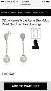 Wedding earrings New by Kenneth Jay Lane