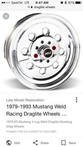4 bolt Mustang  drag lite wheels