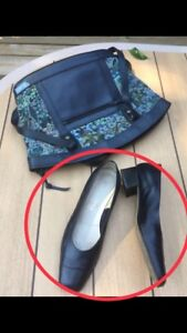 Souliers femmes cuir Italie bleu gr 38 gratuit à l'achat du sac