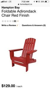 2 Red chairs free stolen