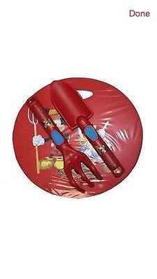 Disney Mickey Mouse Garden Kneeling Pad & Garden Tools Boy Girl Toy Rake Shovel