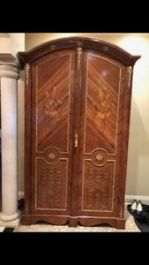 Moving Sale ( Baroque Walnut Armoire)