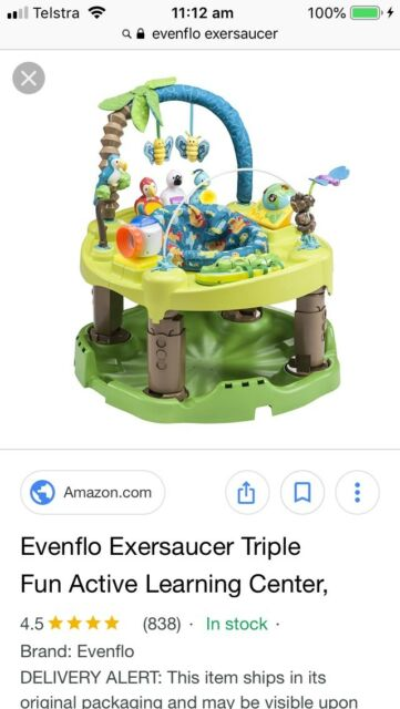 6672d4607 Evenflo Exersaucer Triple Fun Life in the Amazon
