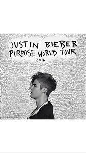 2 x Justin Bieber Tickets Perth Section B2 FRONT ROW Balcatta Stirling Area Preview