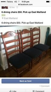 6x dining chairs East Maitland Maitland Area Preview