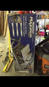 Mastercraft Table Saw with Stand