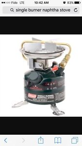Looking for single burner naptha stove
