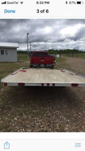 Double wide skidoo trailer
