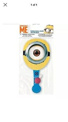 Despicable Me Minions Party Supplies-Favors-Paddleball game-lot of 2 - Despicable Me Party Games