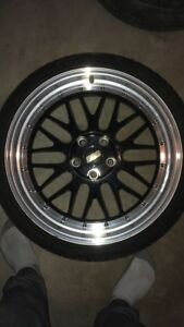 """19"""" BBS RGR replica wheels with rubber 5x114.3"""