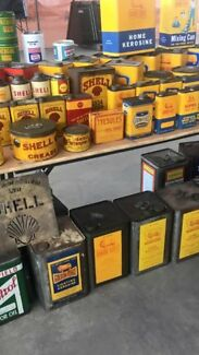 Wanted: WANTED TO BUY PETROL & OIL TINS &  COLLECTIBLES!!