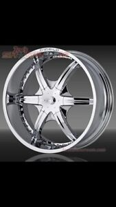 24 inch diablo rims and tires
