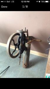 Antique wall mounted drill press