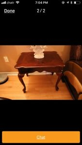 3 piece cherry look coffee and end table set