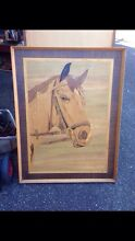Wooden Horse Parquetry Art 100 cm high 78cm wide Marquetry Oatley Hurstville Area Preview