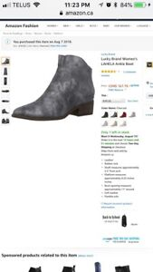 Size 8 Lucky Brand booties. New