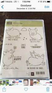 This Little Piggy rubber stamp set
