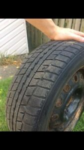 4x 14 inch Winter Tires on Rims, 1 season used only!!