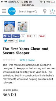 The first years close and secure sleeper $40 Gordon Tuggeranong Preview