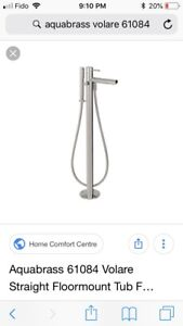 Aquabrass tub filler volare straight 61084