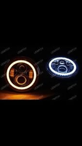 Jeep led projector headlights with halo