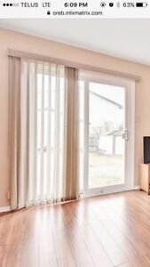 vertical blinds 6 ft x 7ft (patio door)
