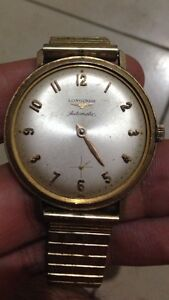 Longines automatic 10k solid gold filled men's watch