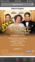 Free tickets tonight can text or email. Leige st innaloo Parmelia Kwinana Area Preview
