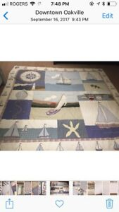 "King size "" nautical theme"" bed quilt"
