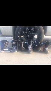 3 pairs of snowboard boots