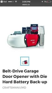 Garage Door Opener with Backup Battery