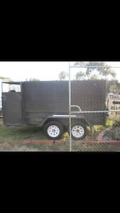 Stolen Grey Army trailer 8x6 Southbank Melbourne City Preview