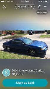 2004 Chevy Monte Carlo (as is)