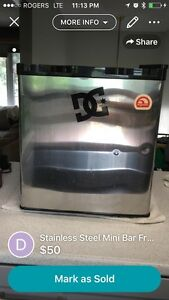 Mini Fridge with Ice Box Stainless Steel