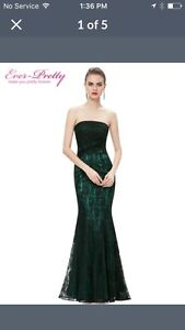 Green lace gown size14