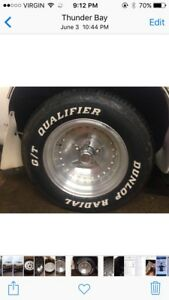 "Set of 4 WIDE 15"" centerline type wheels"