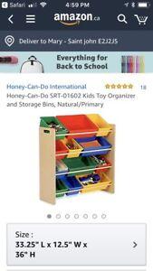 Kids toy organizer