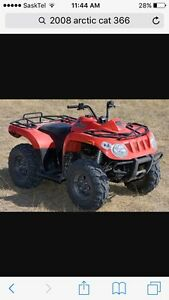 Parting out 2008 arctic cat 366 4x4 quad