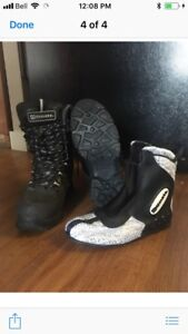 Kid size snowmobile boots