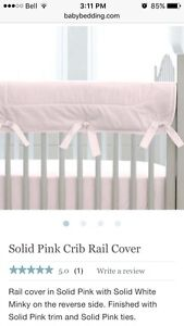 Baby girl crib rail cover by Carousel Design