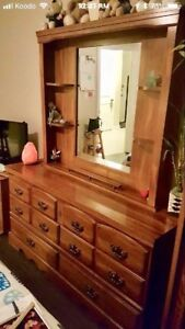 Gorgeous Solid Dresser w/ Shelves & Mirror - DELIVERY