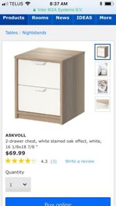IKEA Askvoll bedside tables ($80 for both!)