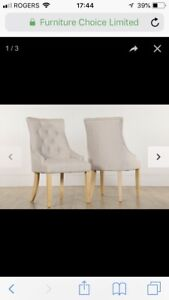 Tufted Upholstered Dining Chair (only 1)