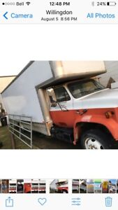 1988 uhaul trailer, 23 ft and gmc 6000 truck front