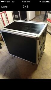 Clydesdale Amp Road Case with 8 space rack. $300