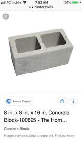 Wanted : Concrete Cinder Blocks
