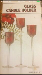 Glass candle holders - New